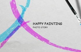母親節圖像祝福美術藝術水墨暈染繪畫AE模板