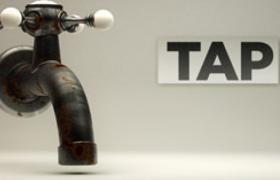 老式铸铁工艺机械旋转式水龙头TAP日常家用控水装置C4D模型