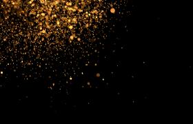 金色粒子线条斜射大气舞台演绎背景视频素材
