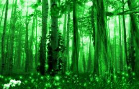 绿色梦幻森林精灵王国唯美视频渲染素材