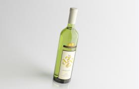 意大利wine龙阁奥兰特霞多丽干白葡萄酒C4D模型(含贴图)
