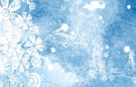 冰雪花紋唯美冰雕紋路生長動態舞蹈演出背景視頻素材