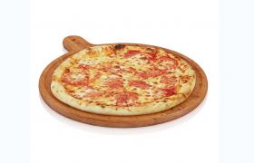 大份木制拼盘奥尔良香肠烤肉披萨C4D模型(含贴图)