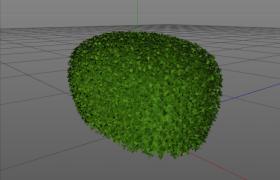 光滑表面園林修建設計戶外景觀植物黃楊C4D模型