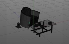高品质单人沙发茶几套装室内休闲格调家居C4D模型