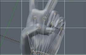 人體仿生學設計人類手掌Cinema4d人體工程模型(含骨骼節點)