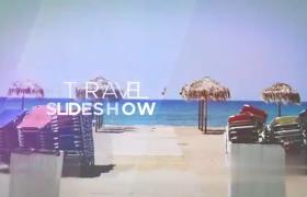 夏季之约图文旅行展示幻灯片弧形切换效果AE模板