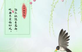 柳暗花明美麗彩繪春景傳統春分節氣PSD宣傳海報