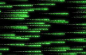 绿色抽象数字横向滚动显示科技特效视频素材