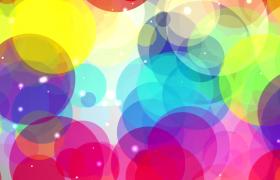 炫彩圓圈活力洋溢閃光粒子點綴MP4特效視頻素材