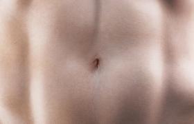 身體腹部肌群高清肌膚及材質設計C4D人體工程模型展示