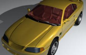 福特Mustang野馬高層視覺效果肌肉跑車Cinema4D汽車工程模型