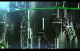 三維空間感LOGO標志展示電路紋理變換片頭AE模板