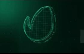 三維迷你暗黑LOGO標志展示粒子光閃效果AE模板