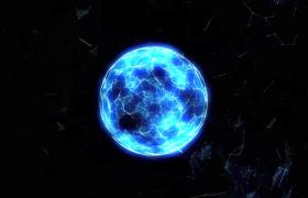 藍色光球震撼光波抖動擴散MP4特效視頻素材