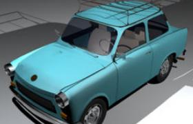 怀旧风潮特拉比复古特拉班特汽车C4D汽车工程模型(含贴图)