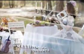 浪漫恋人婚礼婚纱照图文幻灯片展示玻璃滑屏切换AE模板