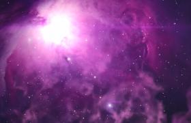 紫色美丽星云神秘烟雾迷蒙遮掩MP4特效视频素材