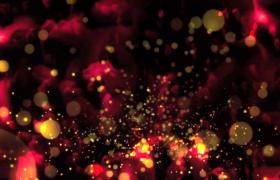 玫瑰花瓣背景金色粒子蝴蝶飞舞特效演绎HD视频素材