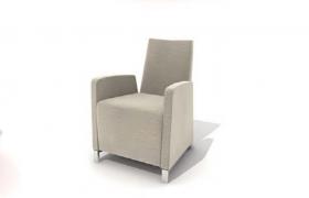 精品暖色系純棉沙發座椅C4D高品質家居模型