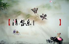 中国风唯美经典清明节祭祖缅怀亲人踏青花瓣飘落AE模板