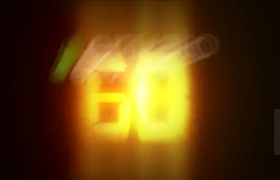 快節奏震撼氣勢燈光刺眼時間讀秒標志開場AE模板