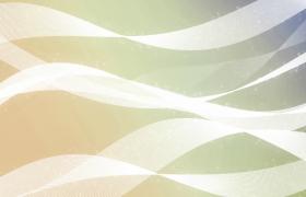 白色线条波浪式柔美运动粒子唯美演绎动态特效视频素材