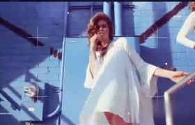 时尚模特拍摄动感创意图文视频展示毛刺故障效果AE模板