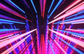 紅藍燈光秀節奏性變換照射酒吧夜場特效視頻素材