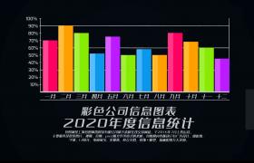 简约2020年公司企业彩色信息图表数据汇总展示AE模板