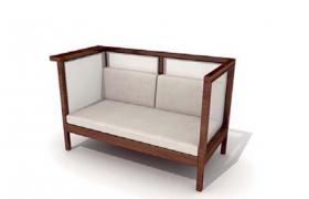 新中式純木質包裹復古家居高品質座椅c4d模型