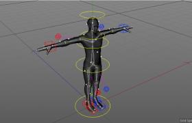 C4D可活動關節細分曲面對象設計人體工程建模下載