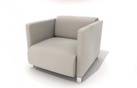 高品质北欧纯色风格室内休闲家具座椅C4D模型