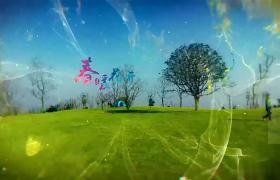 清新透明烟雾笼罩春暖花开一起春游踏青AE模板