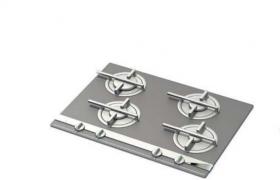 创意性铝合金精品灶台厨房家庭用具C4D模型