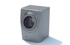 洗烘一體家用滾筒式洗衣機大型家庭電器C4D模型