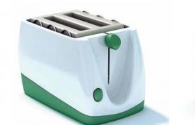 多功能烤面包機精致早餐制作神器C4D小型家電模型