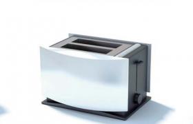 全自动多士炉家用小型烤面包机两片装小型家电C4D模型