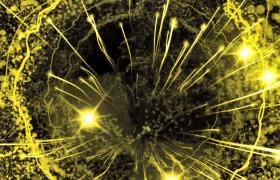 金色活力粒子光線激烈撞擊演繹震撼特效會聲會影片頭