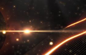 三維神秘粒子星空粒子光輝網絢麗漂浮會聲會影特效片頭