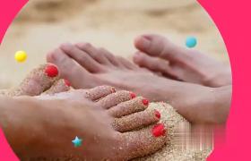 清爽沙灘暑假度假活力夏日圖文幻燈片展示AE模板
