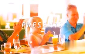 動感粗體白色標題家庭溫馨夏日之旅紀念片頭AE模板