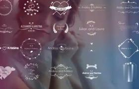 浪漫甜蜜婚礼主题创意标题展示粒子效果AE模板