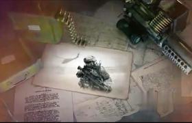 回顾硝烟战火战争图像记录片栏目包装AE模板