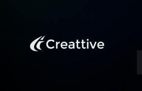 現代簡約品牌標志動畫包故障扭曲閃爍效果AE模板