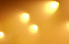 黄色聚光灯闪烁荧光粒子漂浮不定LED舞台背景视频素材
