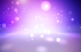 紫色幻光空间粒子光点梦幻洋溢动态特效视频