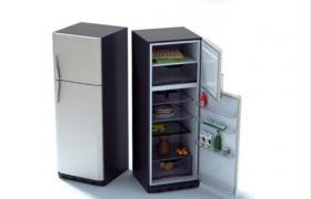现代食物冷藏恒定制冷设备家用立式冰箱C4D模型