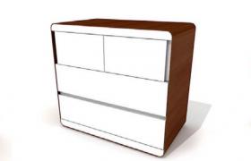 精致北歐風格設計家具臥室物品存放柜Cinema4D模型