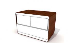 自然簡約流線型風格設計房間衣物存放柜C4D標準物理渲染模型